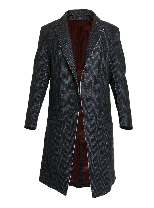 urcuit silk herringbone deconstructed coat