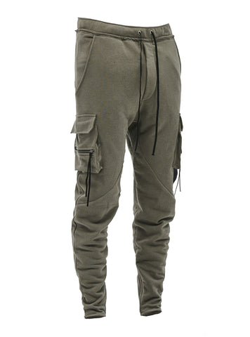 larai cargo sweatpants olive grey
