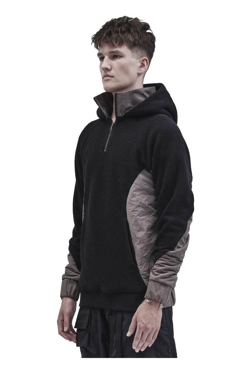 zatitu hoodie textured cotton / etaproof ash dye