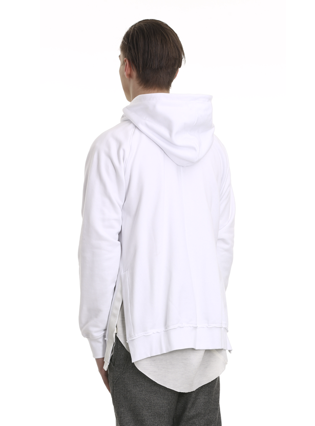 araotz oversized zipped sweatshirt white