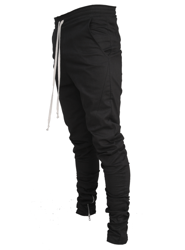 lantz twill pants black