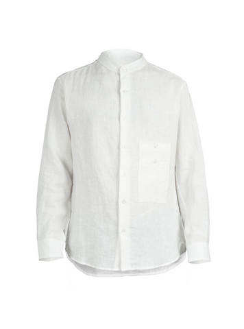 ainhoa washed linen shirt white