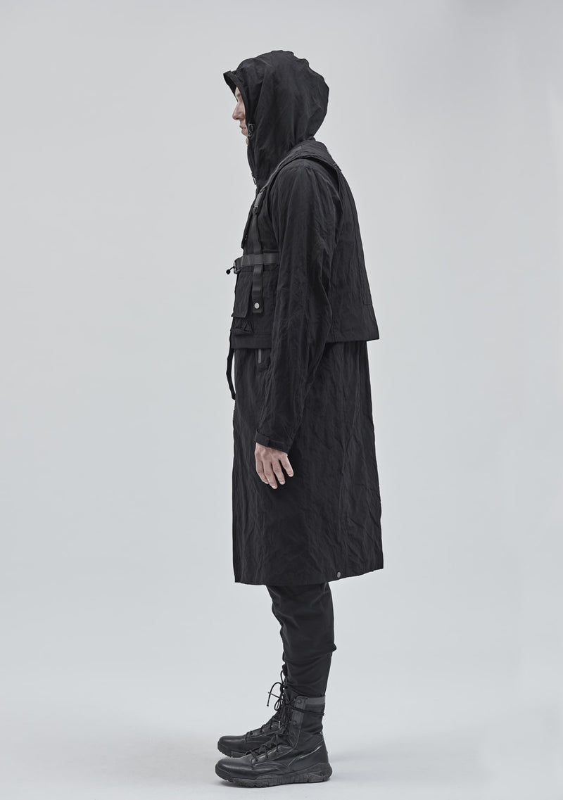 itzala adjustable coat black