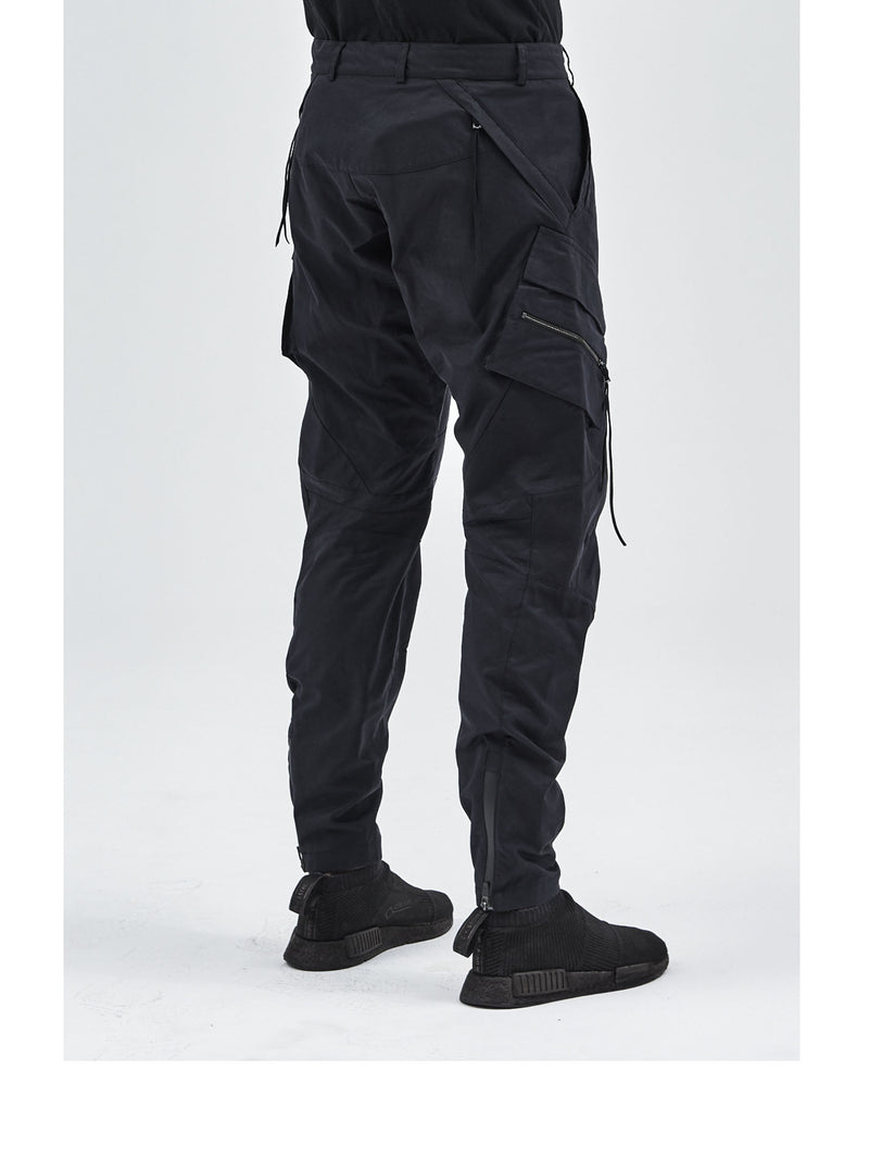 ameztu articulated cargo pants black