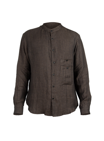 ainhoa washed linen shirt brown
