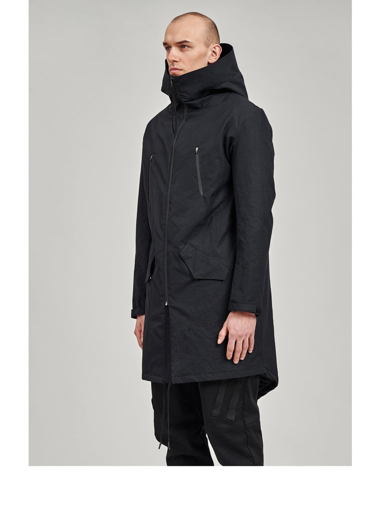 laukiz stotz etaproof fishtail parka black