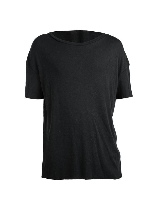 ordizia oversized merino tee black