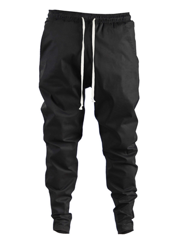 ergoi cotton poplin sweatpants black