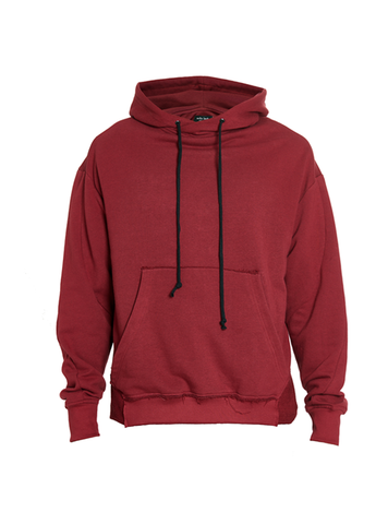 exalde distressed hoodie blood red