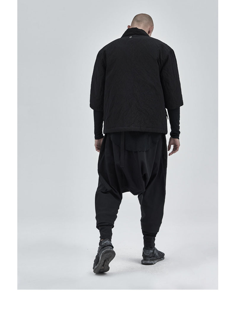 esku dropcrotch paneled pants