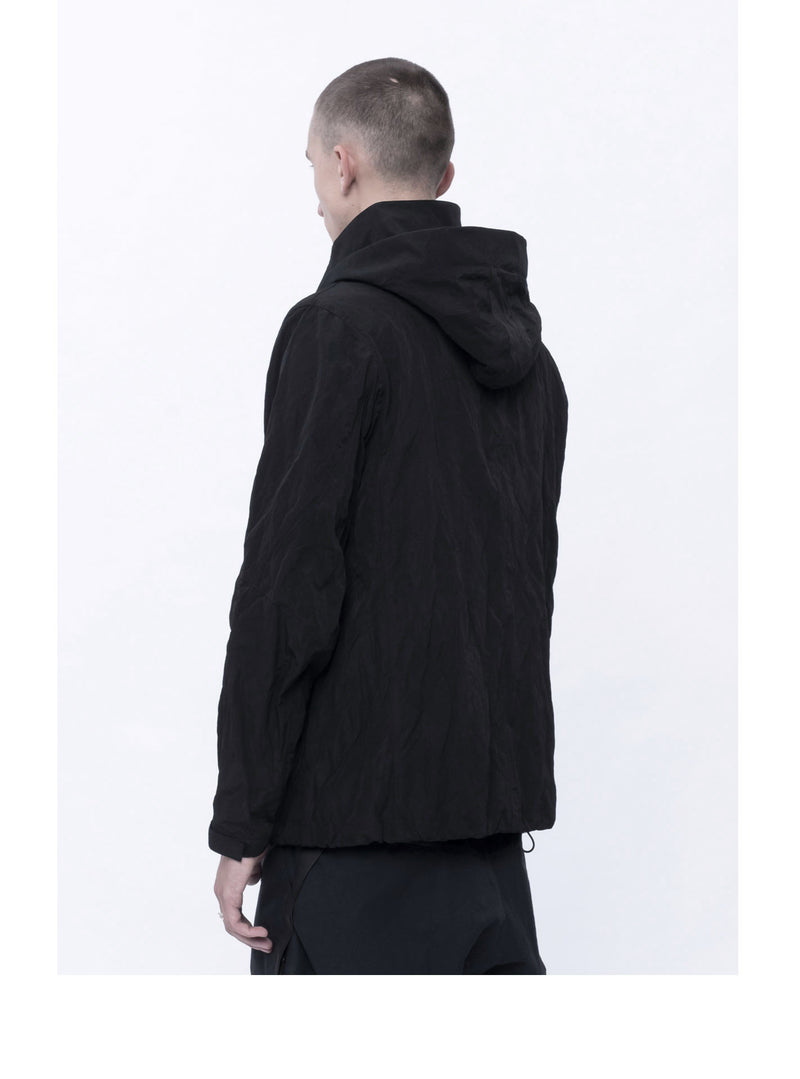 lau polyester/metal shell jacket