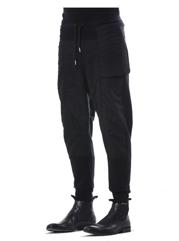 erdi paneled sweatpants black