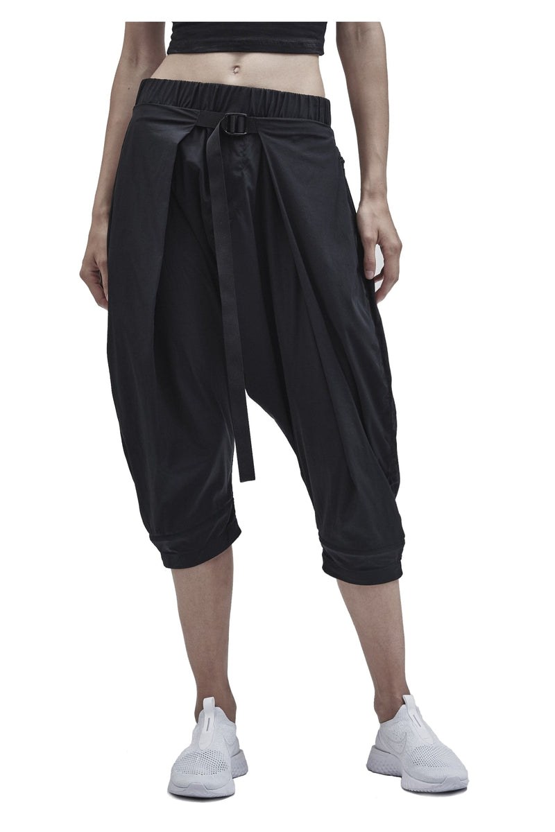 aldatze dropcrotch cropped pants technical poplin