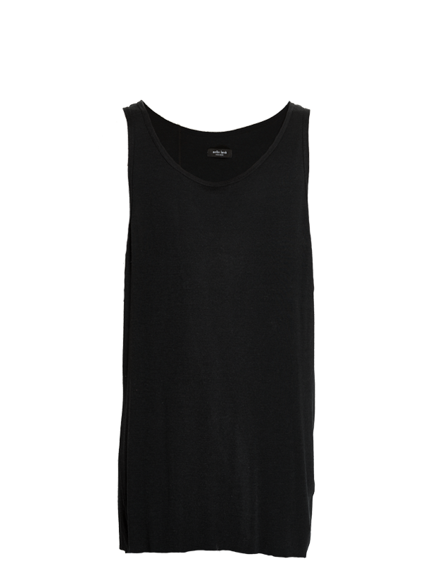 etsain oversized merino tank top black