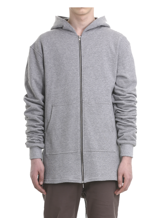 urduna french terry fishtail parka grey