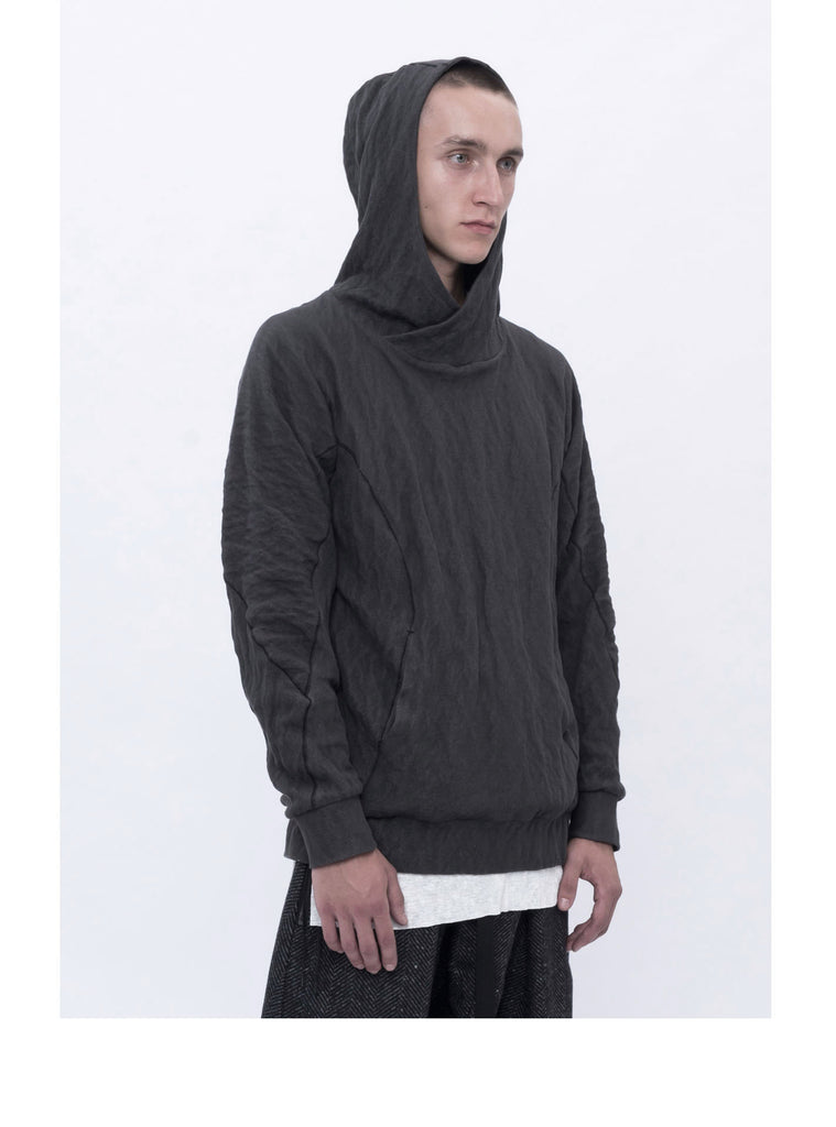 ehitu cotton/metal blend hoodie grey