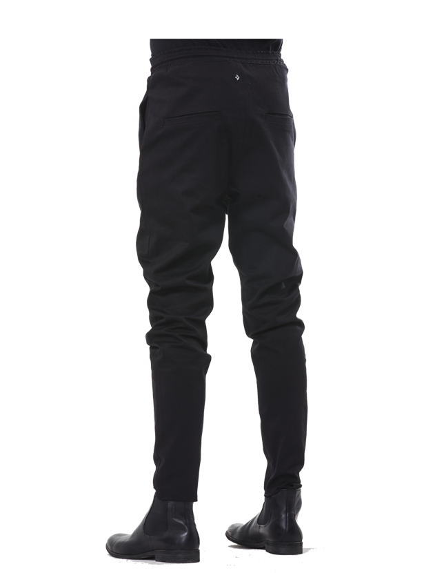 lirain twill pants black