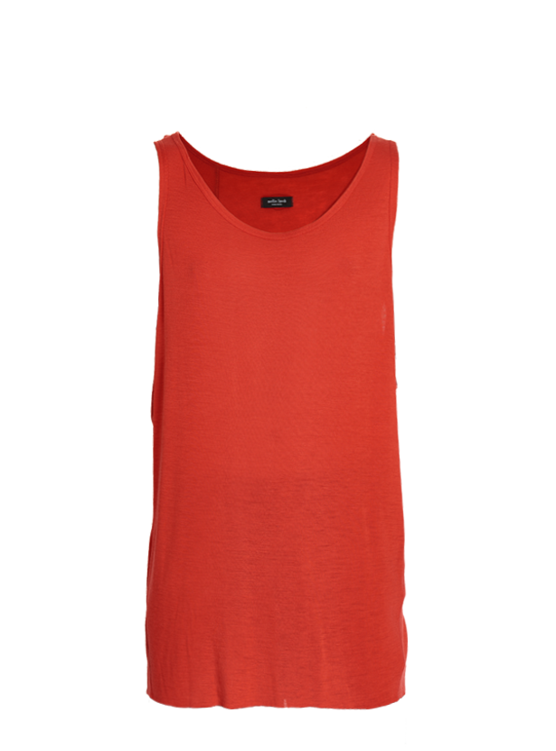 etsain oversized merino tank top red