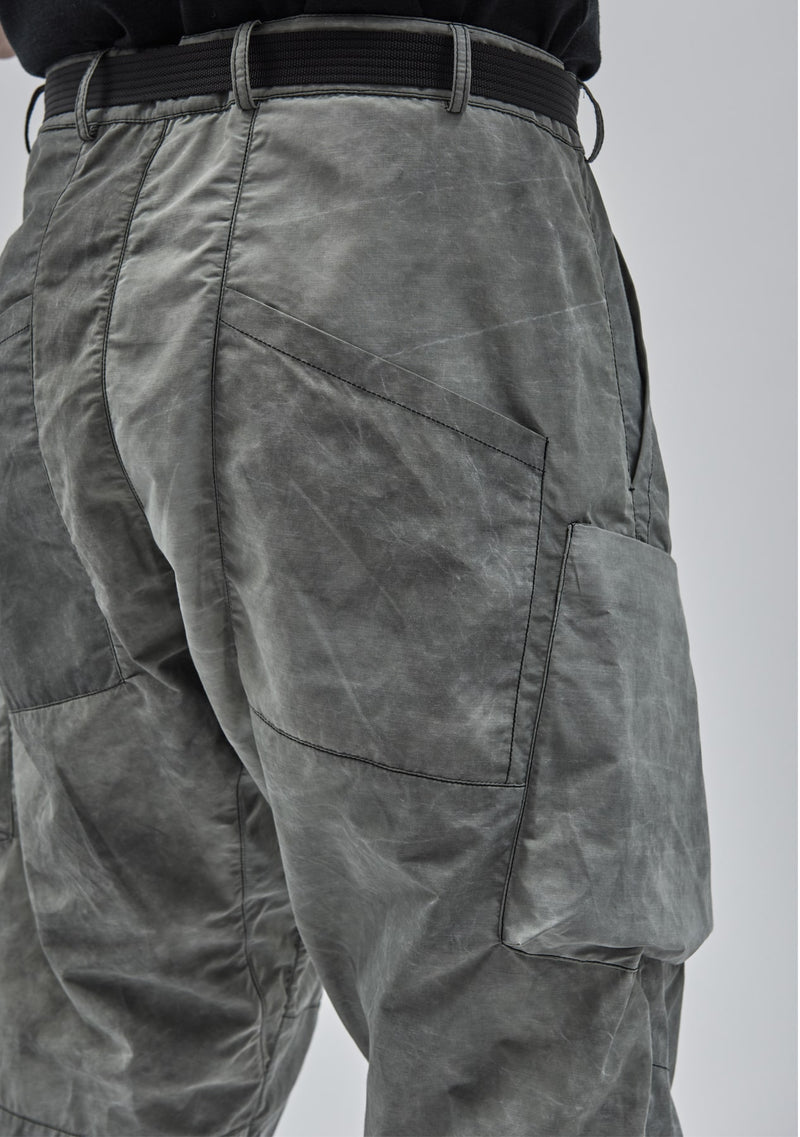 ezarri cargo pants cold dyed green