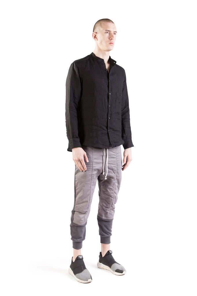 ainhoa washed linen shirt black