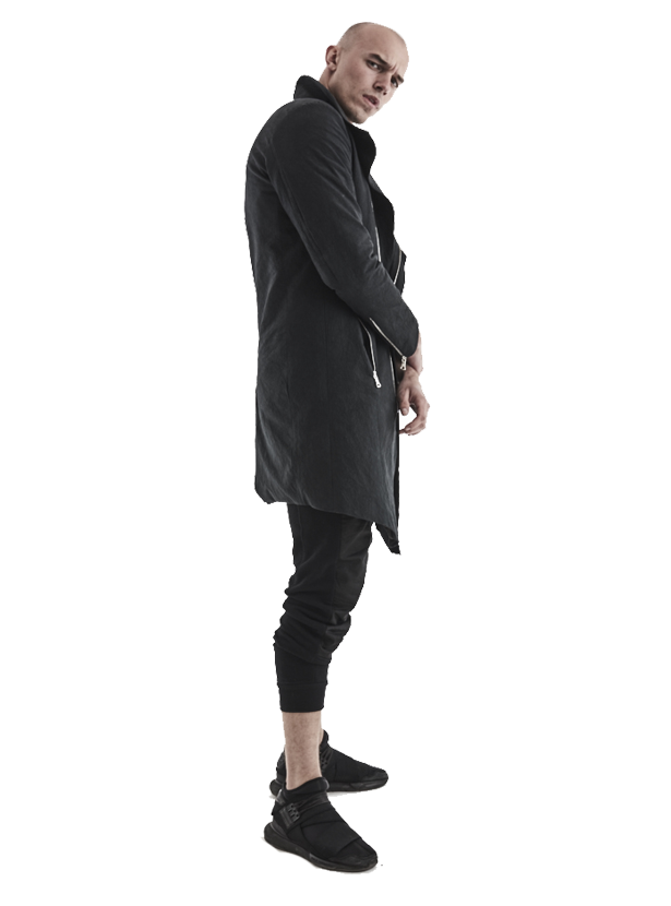 arroka asymmetrical coat artisanal cotton