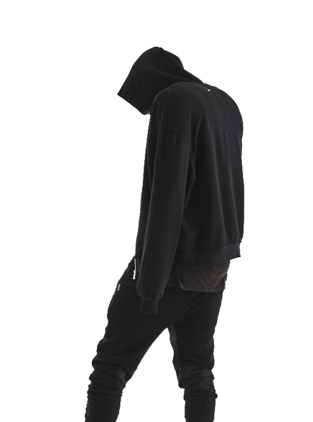 aribe oversized zipped sweatshirt black