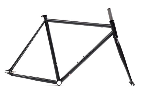 """The Matte Black"" Frame Set - Double Butted 4130 Chromoly Steel Tubing"