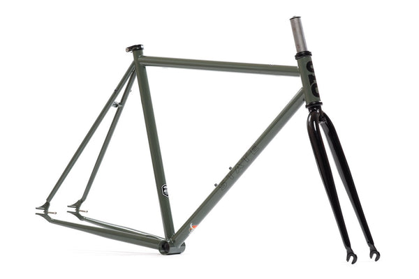 """Army Green"" Frame Set - Double Butted 4130 Chromoly Steel Tubing"