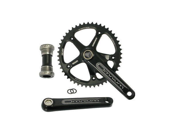 SRAM Omnium Crankset (Black) & GXP Bottom Bracket
