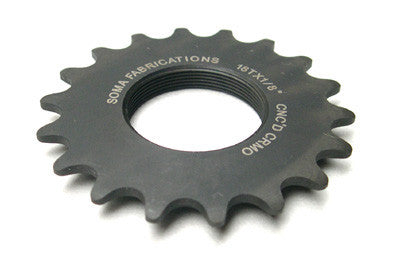 Soma Track Cog 15T 1/8 Black Machined