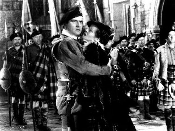 Mary Of Scotland Movie Scene with an English Soldier Premium Art Print