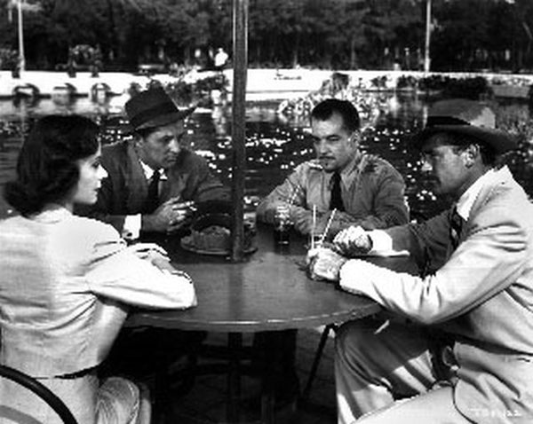 Big Steal Group Talking on the Table Scene Excerpt from Film Premium Art Print