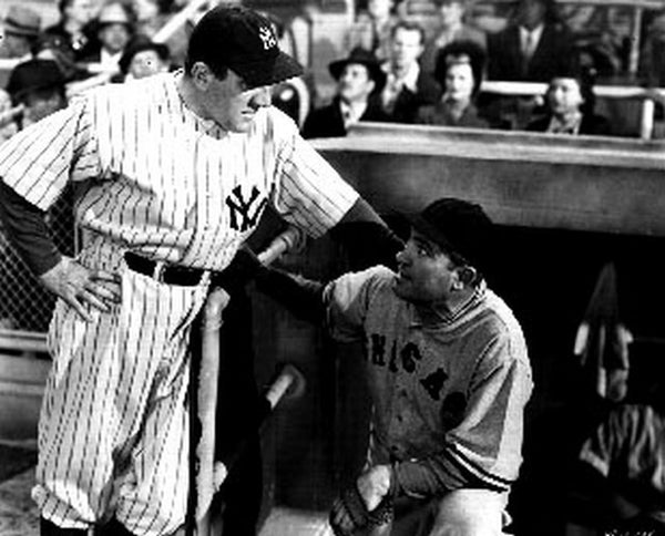 "Scene From the Movie ""Babe Ruth Story"" in Classic Portrait Premium Art Print"