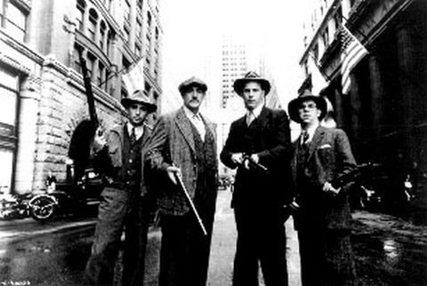 Untouchables Group Picture With Rifles Black and White Premium Art Print