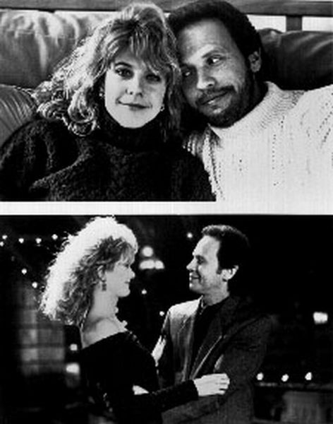 When Harry Met Sally Couple smiling in Black and White Premium Art Print