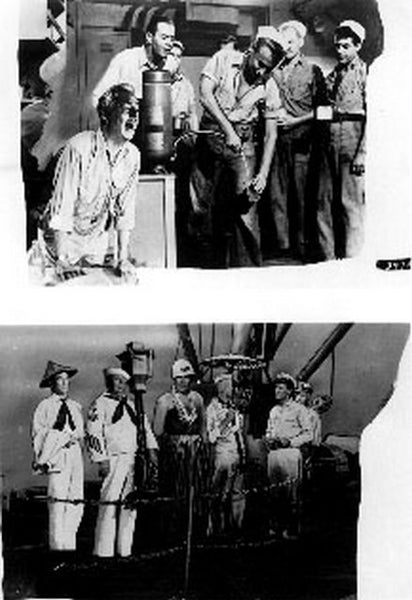 Mister Roberts Two Picture of Sailors in Black and White Premium Art Print