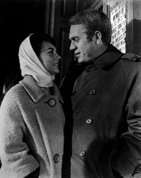 Love With The Proper Stranger Portrait of Natalie Wood and Steve McQueen Premium Art Print