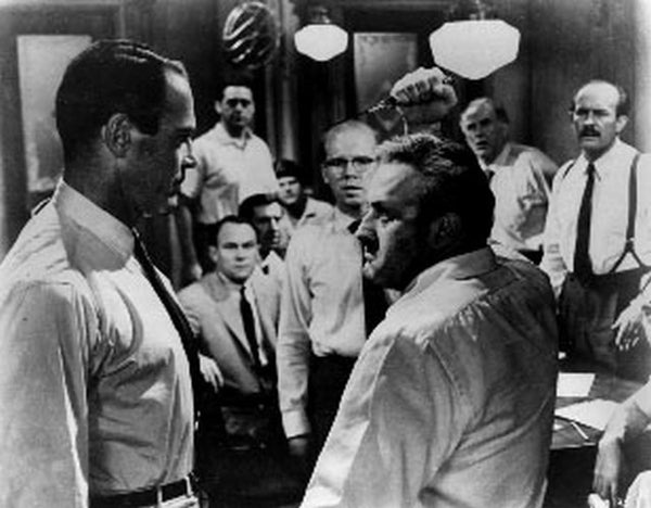 Twelve Angry Men Fight Scene Premium Art Print