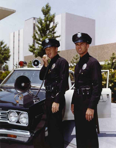 Adam-12 in Police Uniforms High Quality Photo