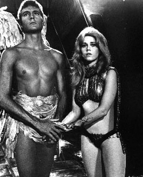 Barbarella Posed in Brief and Bikini Premium Art Print