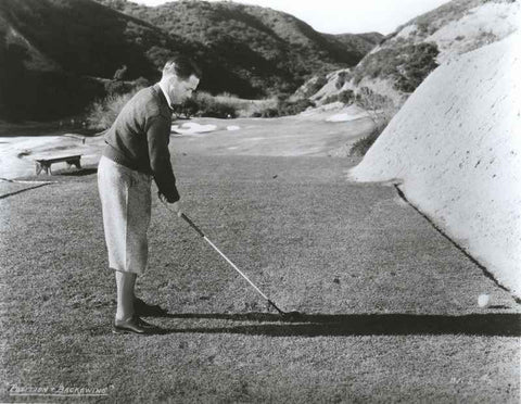 Bobby Jones Playing Golf in Black and White High Quality Photo