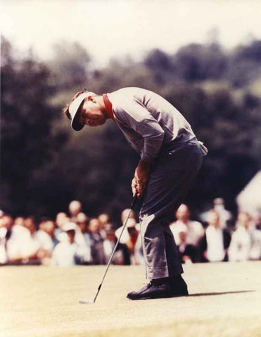 Arnold Palmer Putting a Golf Ball to the Hole High Quality Photo
