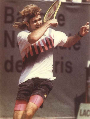 Andre Agassi Playing Tennis with a Smile High Quality Photo