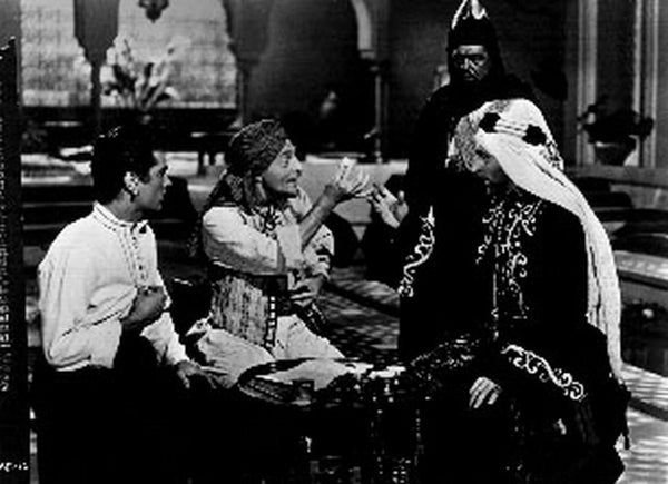Prince Who Was A Thief Two Men and a Lady Talking Scene Excerpt from Film Premium Art Print
