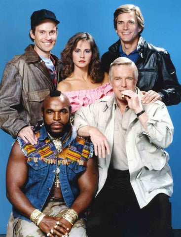 A-Team Posed with Cast High Quality Photo
