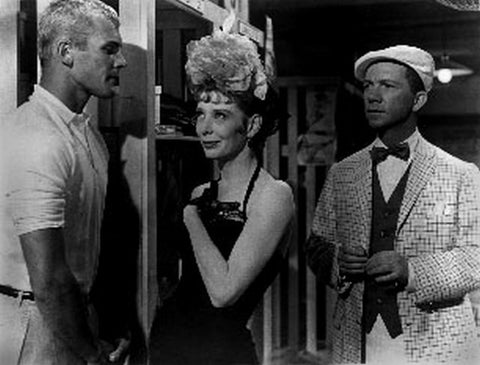 Damn Yankees Cast Gwen Verdon, Tub Hunter and Mickey Mantle in Black and White Premium Art Print