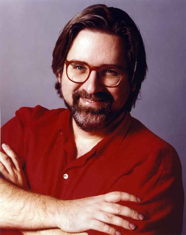 Matt Groening Portrait in Red Shirt High Quality Photo