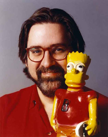 Matt Groening Portrait in Red Shirt with a Toy High Quality Photo