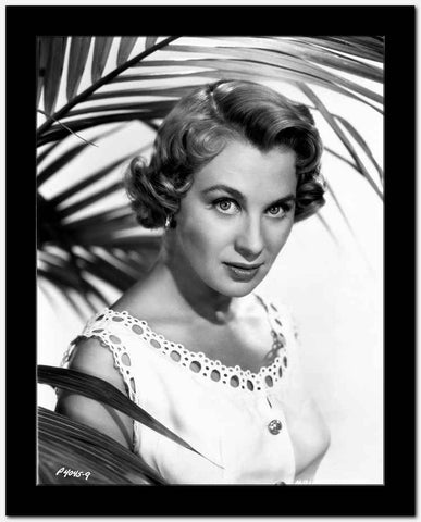 Mai Zetterling Posed in White Dress with Short Curly Hairstyle High Quality Photo