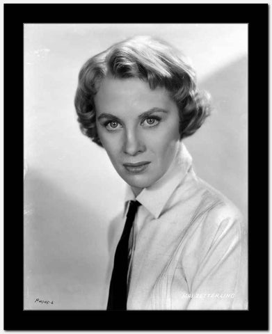 Mai Zetterling Posed in White Long Sleeve with Necktie High Quality Photo